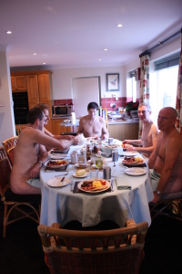 Adam's naturist retreat - dinner